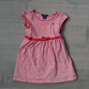 Tommy Hilfiger Red/White Striped Cotton Dress, 2